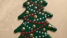 Кулон ручной работы ′Новогодняя елочка′