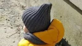 Комлект шапочка и снуд ′Серебро′