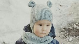Комплект ′Мишутка′ (шапочка с ушками и снуд )