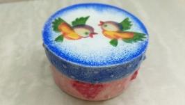Шкатулка ручной работы ′Снегири′