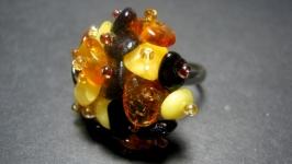Кольцо из натурального янтаря′Янтарное′