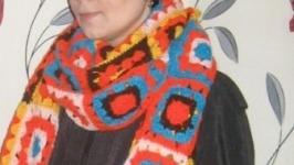 комплект шапка и шарф из мативов