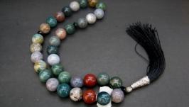Четки из натурального камня′Крымская яшма′