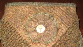 Сумка из шерсти в технике лоскутного шитья