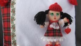 Подушка-игрушка со съёмной куклой Милочкой
