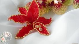 Брошь из бисера ′Орхидея′