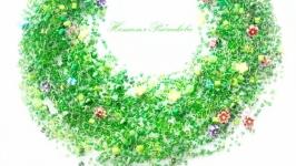 Воздушное колье Яркое зеленое коле