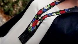 Гердан ′Полевые цветы′ Украшение на шею Лучший подарок женщине Гердан в укр