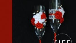 Весільні бокали для шампанського арт. 9002