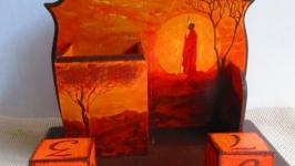 Органайзер, карандашница, Вечный календарь ′Закат′