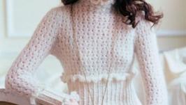 женский свитер вязаный крючком