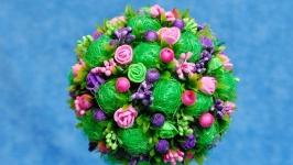 Топиарий - дерево счастья, подарок на 8 Марта, день рождения