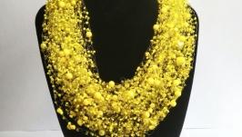 Ярко-желтое воздушное колье Купить желтое воздушное колье