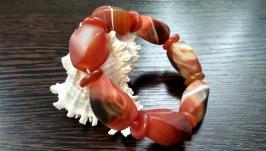 Эксклюзивный браслет из натурального камня′Матовый агат′