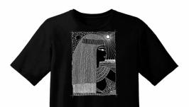 Эксклюзивная футболка. Женский образ по мотивам египетской живописи