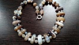 Красивое украшение из натурального камня№Крымский агат′