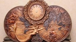 часы из дуба