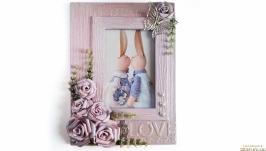 Романтическая фоторамка ′Время любить′ Подарок на свадьбу годовщину юбилей