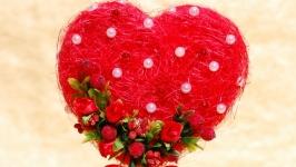 Сердце-топиарий - подарок на день влюбленных