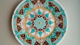 тарілка декоративна Мята-шоколад