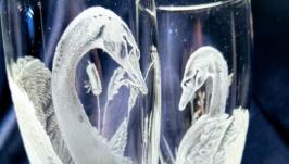 Свадебная пара бокалов ′Лебеди′