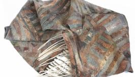 Валяний чоловічий шарф ДІАГОНАЛЬ