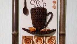Картина, панно ′Кофейная чашка′ 30*40