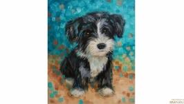 Картина собака собачка щенок
