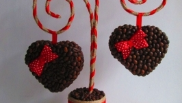 Топиарий - валентинка ′Два сердца′