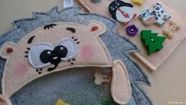 Развивающая игрушка искалка Ёжик. Ручная работа. Из фетра.