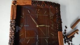 Часы кофейные квадратные