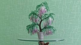 Глициния - дерево из бисера