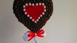 Топиарий - валентинка ′Для тебя′, кофейное деревце в форме сердца.