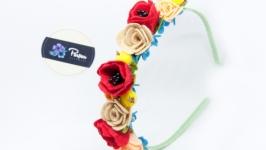 Ободок для волос ′Полевые цветы′