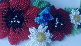 Бісерне кольє Польові квіти