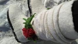 Валенки ′Зимние цветы Розы′