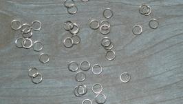 Колечки соединительные, цвет светлое серебро, 5 мм, 1 оборот, 5 грамм