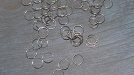 Колечки соединительные, цвет светлое серебро, 8 мм, 1 оборот, 5 грамм
