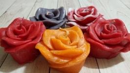 Свеча Роза. Подарок на 14 февраля. Подарок на 8 Марта. Цветы. Аромасвечи