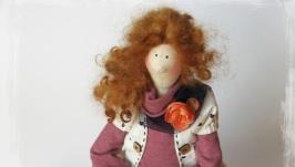 Интерьерная кукла в стиле тильда Мартина