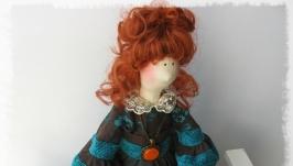Интерьерная кукла в стиле тильда Шарлотта