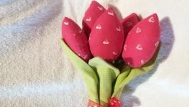 Текстильні тюльпани.