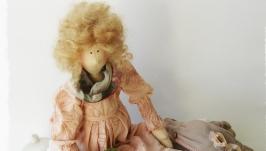 Интерьерная кукла в стиле тильда Розалина