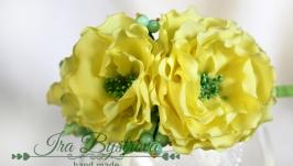 Обруч c желтыми цветами
