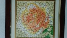 Мозаика′Нежная роза′.