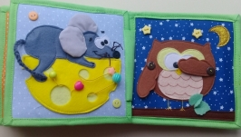 Развивающая книжка для самых маленьких. Подарок малышу. 8 марта