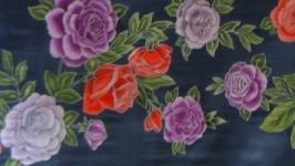 Батик-шарф Розы
