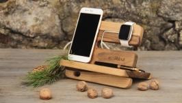 Деревянная Подставка Для телефона Органайзер Холдер Підставка Для Телефона
