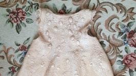 Валяне  шерстяне платтячко ′Рожева перлина′