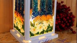 Ліхтар вітражний ′Ромашковий рай′